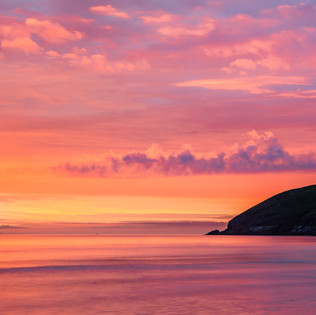 Sunset at Baggy Point, Croyde