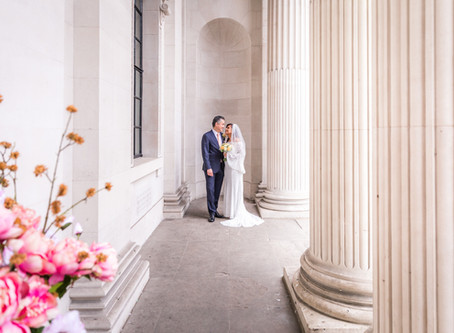 An Intimate London Ceremony at the Old Marylebone Town Hall