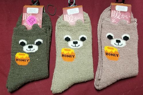 Honey Bear Character Socks