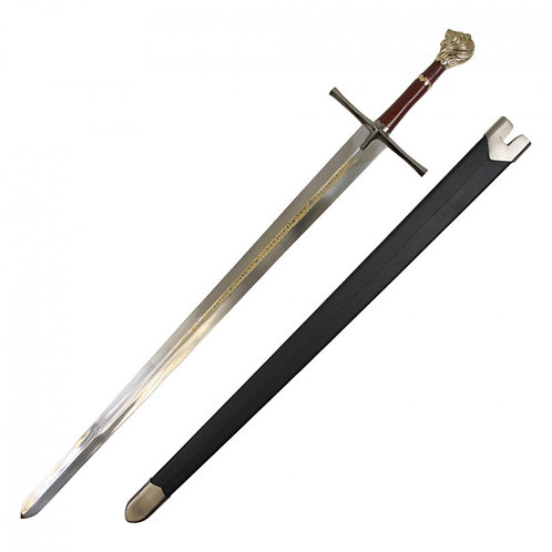 Medieval Sword with Lion Head