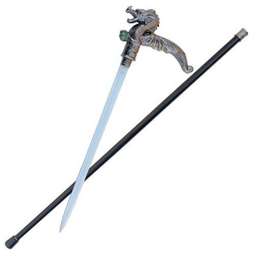 Dragon Sword Cane w/ Green Orb