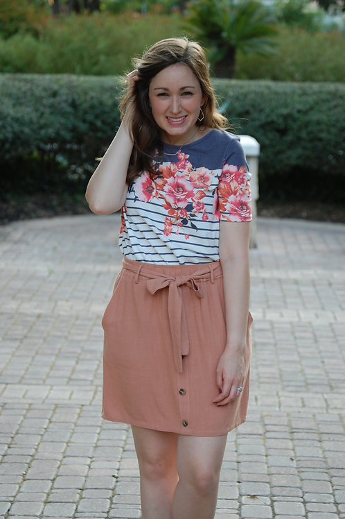 Canvas Skirt in Clay