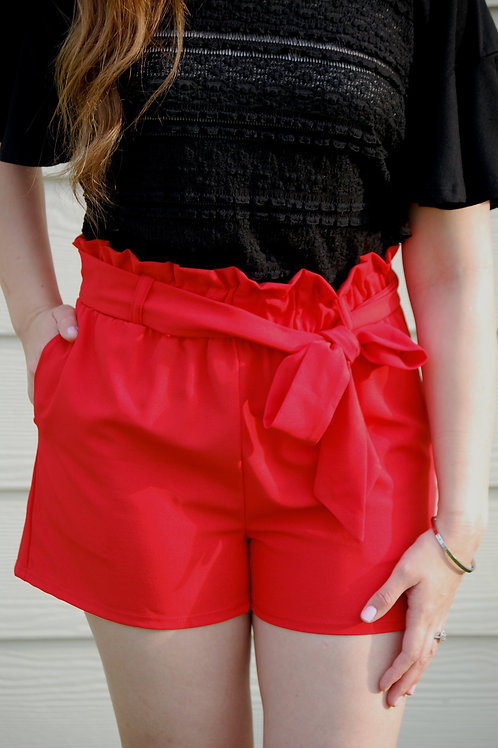 Time After Time Shorts in Red