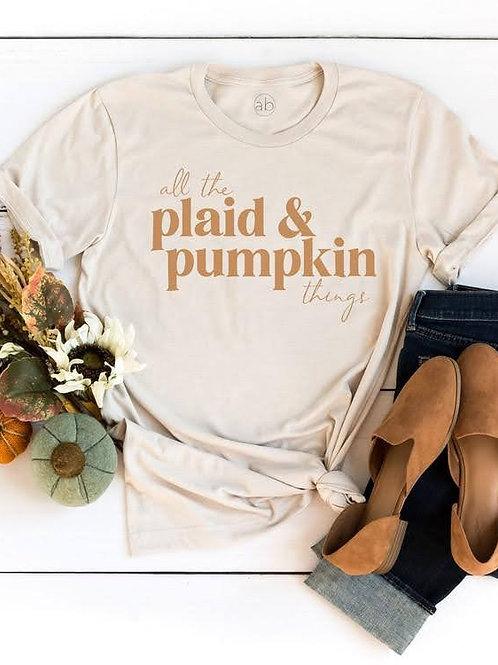 Plaid & Pumpkin Tee