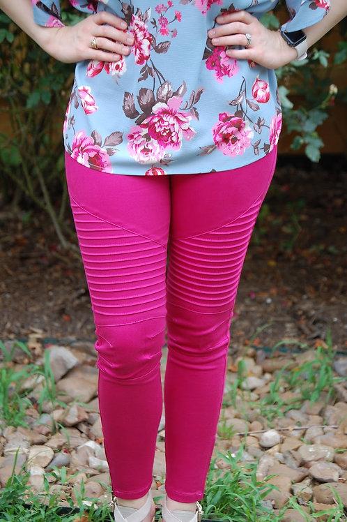 Pink Moto Leggings