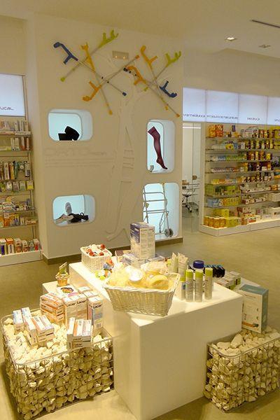 Muebles de exhibición  de aparatos ortopédicos.