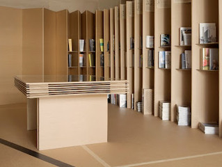 Muebles para negocio de cartón.