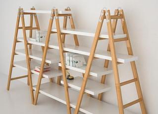 Exhibidores tipo escalera.