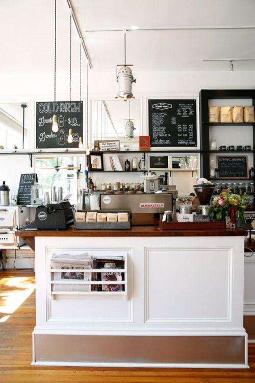 Mostrador para cafetería.
