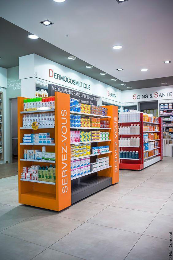 Góndolas para farmacia.