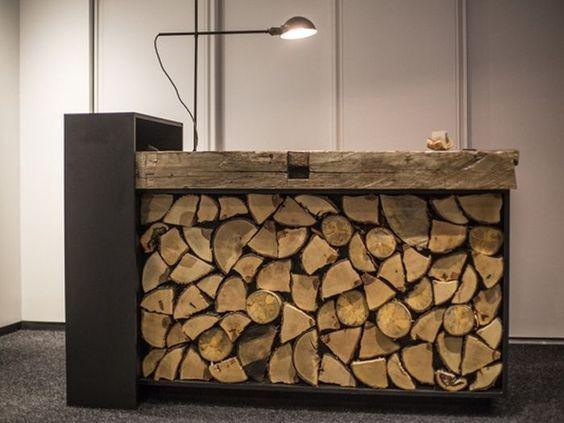 Mostrador de troncos.