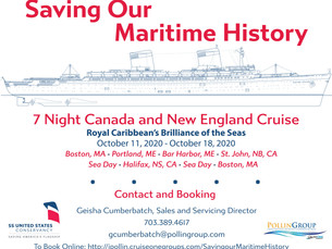 Special Announcement: Maritime History and Stewardship Cruise