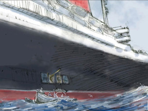 New illustration by David Macaulay for book on SS United States