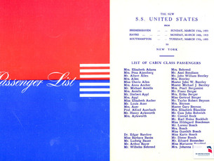 Help us Save History: Donate Your SS United States Passenger Lists