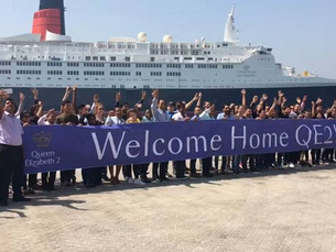 Ocean Liner News: Redeveloped QE2 Moves to Permanent Port Rashid Berth