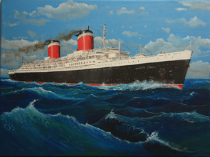 The Big Ship on Canvas