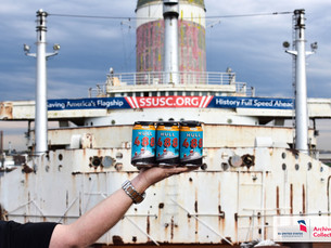 Tradition Brewing Company visits SS United States, namesake of Hull 488 IPA
