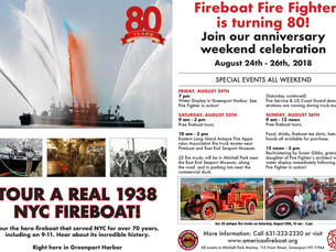 Upcoming Event: Fire Fighter, America's Fireboat, Celebrates 80th Anniversary