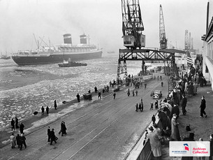 The SS United States' First Arrival in Bremerhaven, Germany: January 3rd, 1953