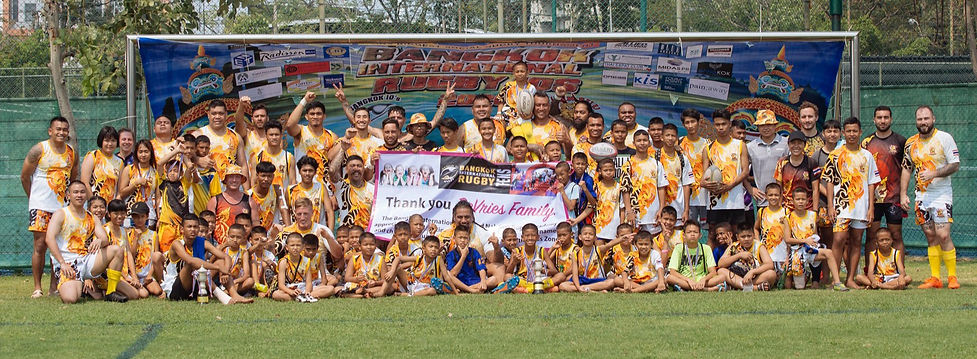 Nak Suu Rugby Academy full mens and kids teams at the Bangkok International 10's 2020