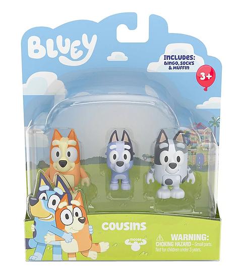 Bluey Series 3 Mini Playset - Cousins, Bingo, Muffin & Socks