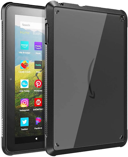 TiMOVO Case for Fire HD 8 Tablet and Fire HD 8 Plus Tablet - Black