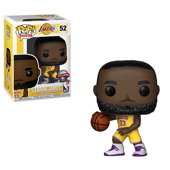 POP! Vinyl NBA: Lakers - LeBron James Yellow Uniform US Exclusive 52
