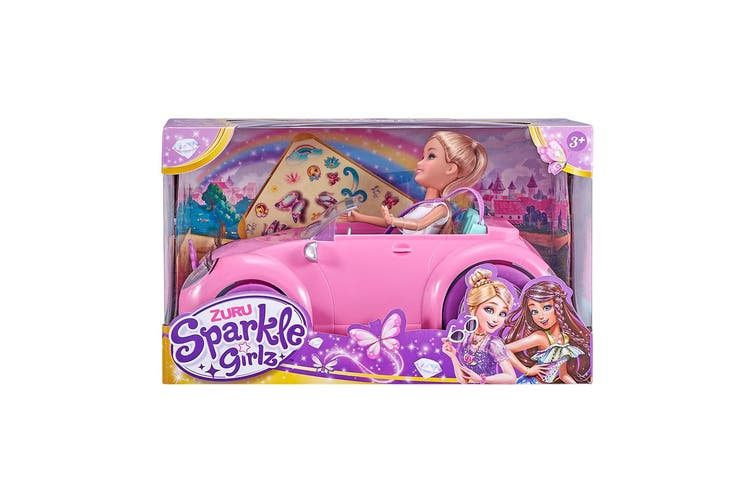 """Sparkle Girlz 10"""" Fashion Doll with Convertible"""