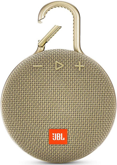 JBL CLIP 3 - Waterproof Portable Bluetooth Speaker -Gold