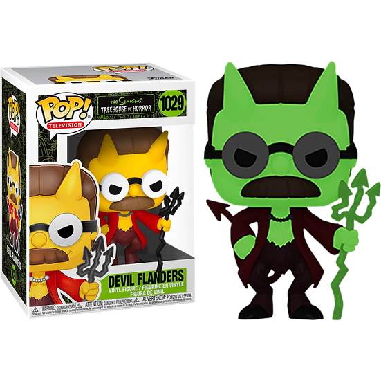 Pop! Vinyl The Simpsons - Flanders Devil Glow US Exclusive