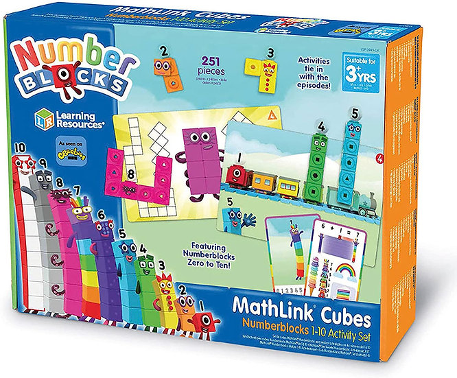 Numberblocks MathLink Cubes 1-10 Activity Set