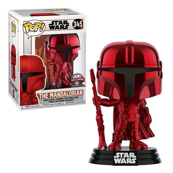 POP! Vinyl Star Wars: The Mandalorian Red Metallic 345