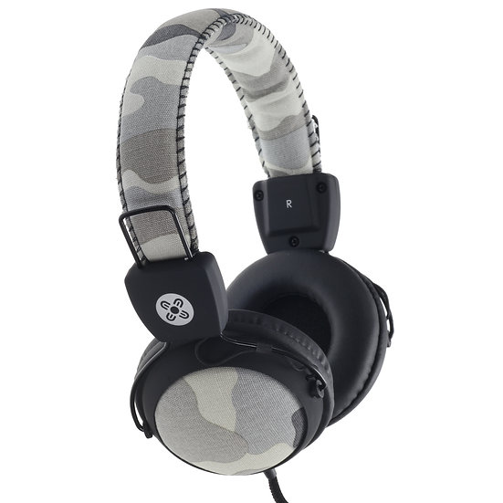 Moki Camo Headphones w/In-Line Mic- Grey