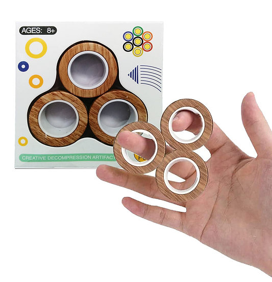 Magnetic Roller Rings Fidget Toy Assorted Cool Colours