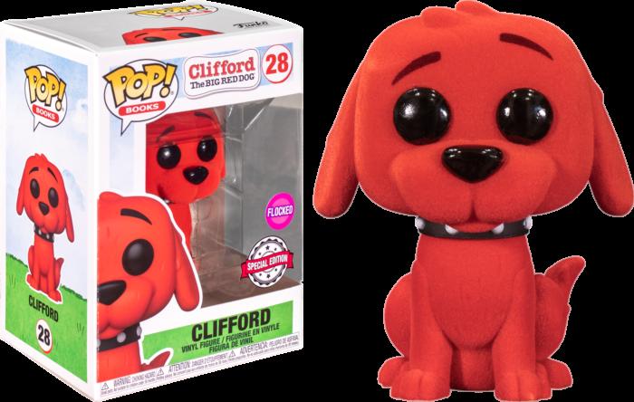 POP! Vinyl Clifford the Big Red Dog  Flocked US Exclusive Pop! Vinyl [RS]