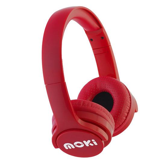 Moki Brites Bluetooth Headphones Red