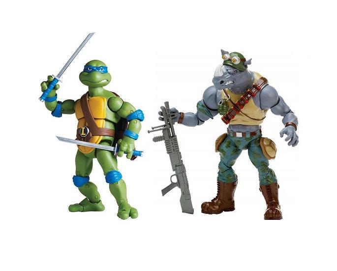 Teenage Mutant Ninja Turtles (TMNT) Classic Collection Leo Vs Rocksteady