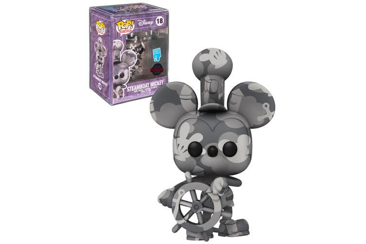 Mickey Mouse - Steamboat Willie (Artist) US Exclusive Pop! with Protector