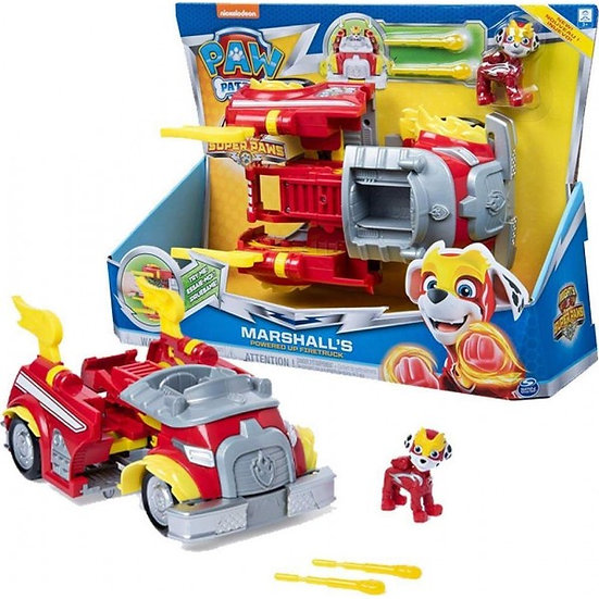 Paw Patrol Mighty Pups Super Paws: Power Changing Vehicles Marshall