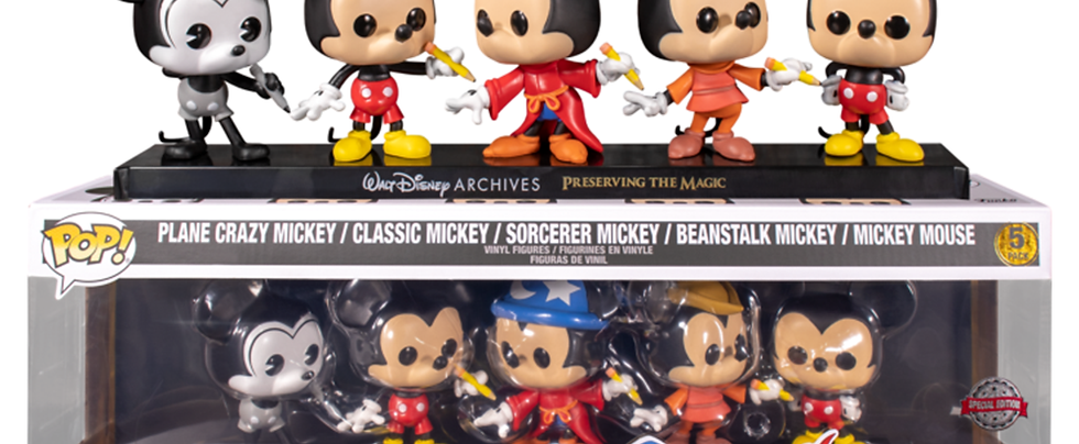 Pop! Vinyl Mickey Mouse - Mickey Mouse US Exclusive 5-Pack