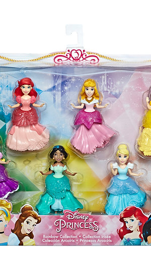 Disney Princess Collectibles, Set of 6 with 6 Royal Clips Fashions