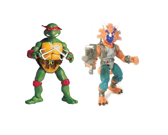 Teenage Mutant Ninja Turtles (TMNT) Classic Collection Raph v Triceraton