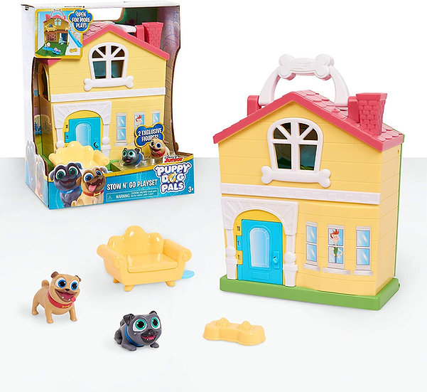 Puppy Dog Pals Stow N' Go Playset, Ages 3+