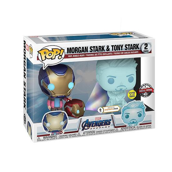Avengers 4: Endgame - Morgan & Hologram Tony Glow with Helmet US Exclusive Pop!
