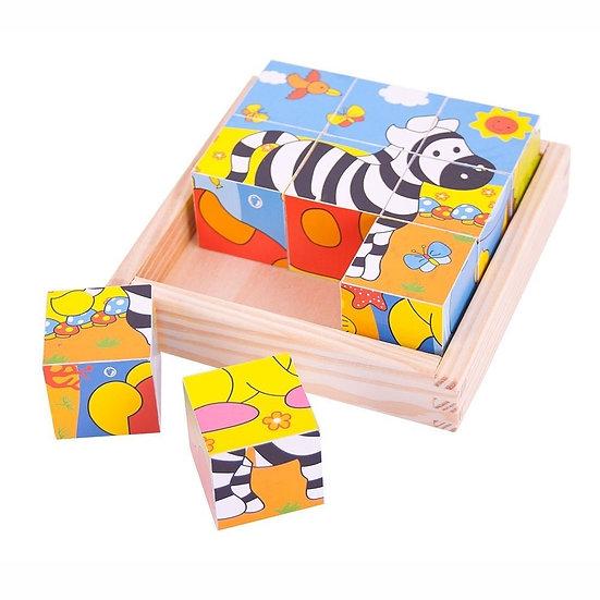 Bigjigs Safari cube puzzle