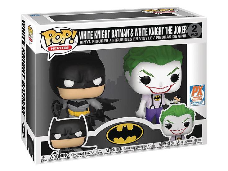 POP! Vinyl Batman - Batman & Joker (White Knight) US Exclusive Pop! Vinyl 2-Pack