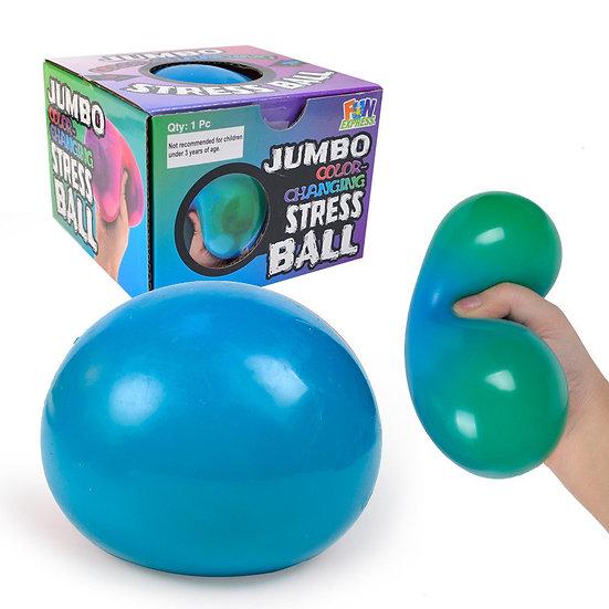Squish Jumbo Colour Change Stress Ball 10cm assorted