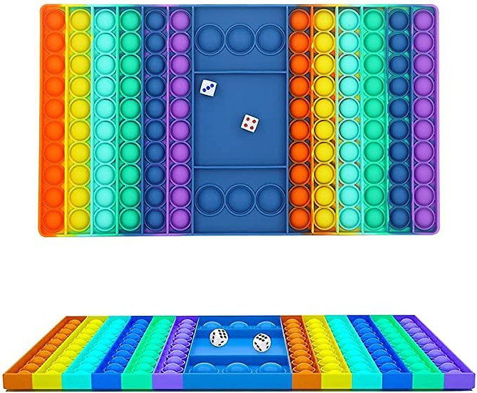 Bubble POPIT  Fidgit Rainbow Gameboard - POPIT Chess