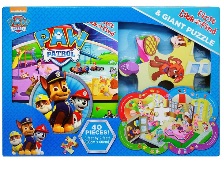 Paw Patrol First Look & Find Book & Puzzle Set