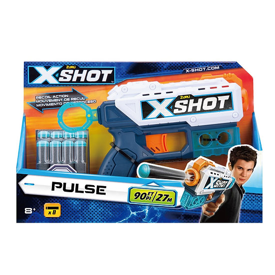 Zuru XSHOT Excel - Pulse inc 8 Darts